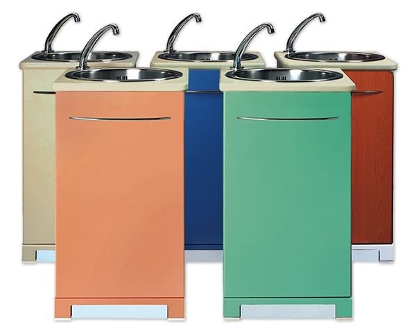 Lavandino con serbatoio acqua boiserie in ceramica per bagno - Lavandini con mobiletto ...